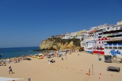 Praia de Carvoeiro. Just a 5-minute walk from your apartment and you are already there!