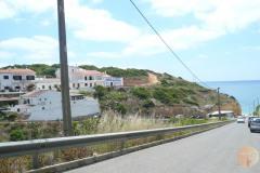 De weg naar de kust.