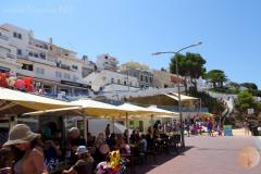 Carvoeiro restaurantjes en terrasjes in het centrum.