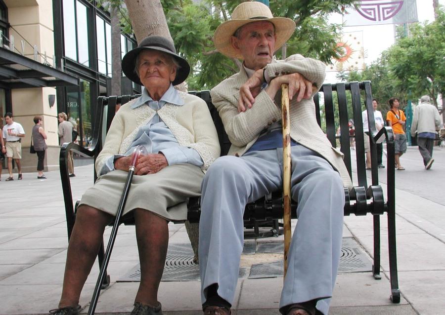Senioren an der Algarve